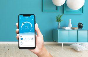 Tesla softver klima uređaja na Tesla telefonu