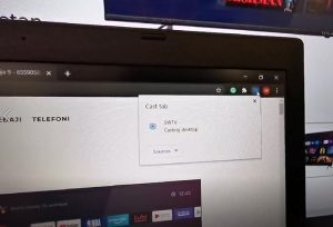 Chromecast deljenje ekrana na Tesla Android TV