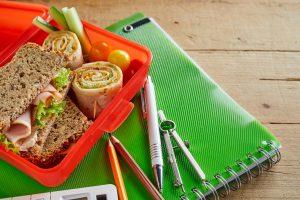Uzina za djecu urolana pica sendvic u plasticnoj kutiji za ponijeti